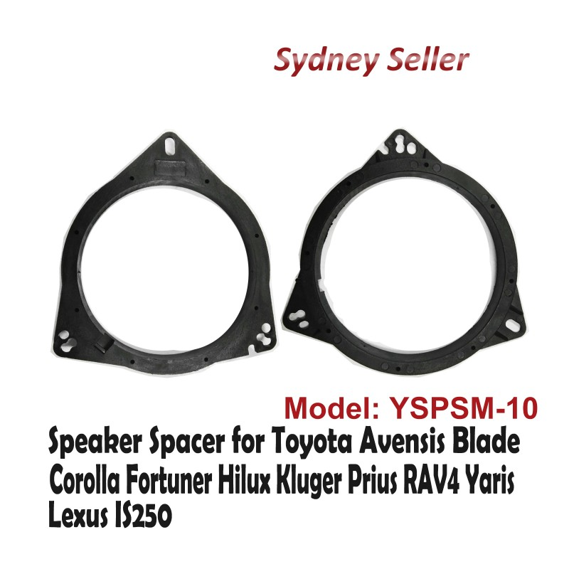 Custom 165mm Front Car Speaker Spacer For Toyota RAV4 RAV-4 Yaris Lexus IS250 YSPSM-10