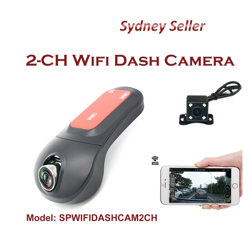 Wifi Dual channel FHD 1080P Front and Rear view dash camera with WiFi WIFIDASHCAM2CH