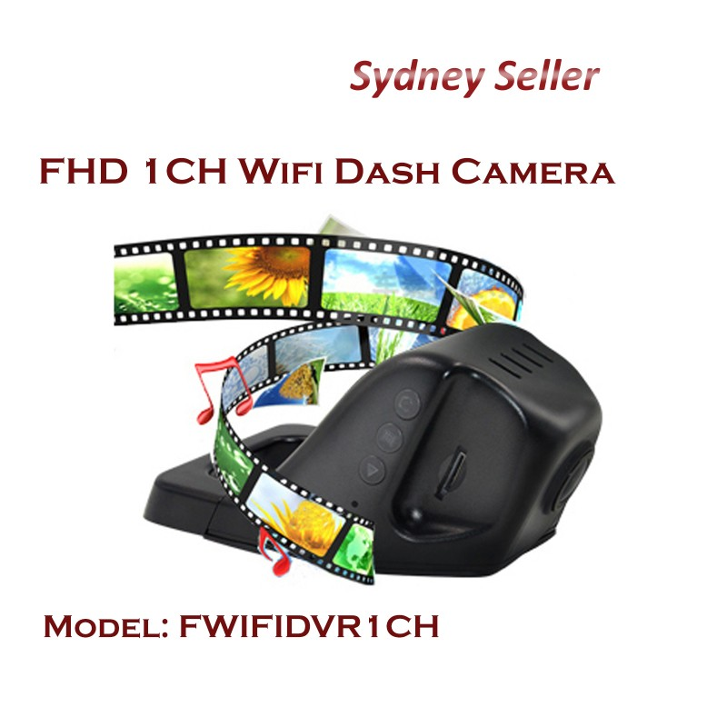 F Wifi DVR FHD 1920P Front Single 1 channel dash camera FWIFIDVR1CH