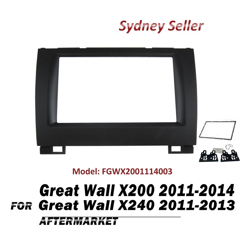 Double DIN Facia Fascia Panel Plate Dash For Great Wall X200 X240 2011-2014 FGWX2001114003
