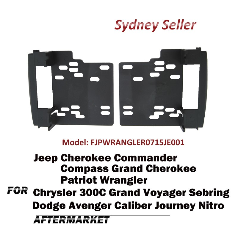 Double DIN Facia Panel Fascia Dash For Dodge Journey Chrysler 300C 2008-2011 FJPWRANGLER0715JE001