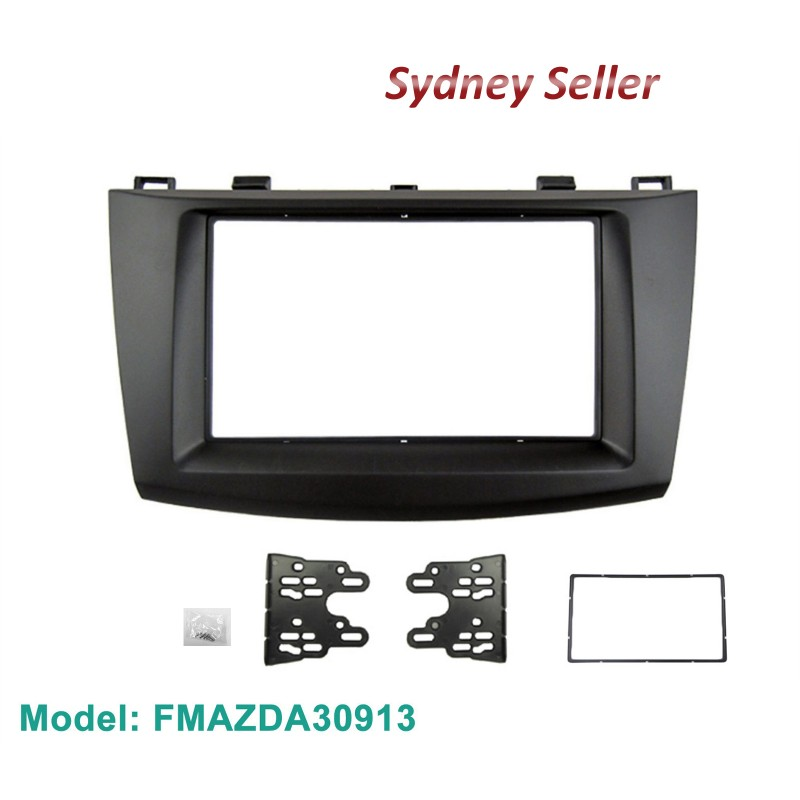 Double 2 Din Facia Kit Fascia Panel Dash Plate Surround Trim For Mazda 3 2009-2013 FMAZDA30913
