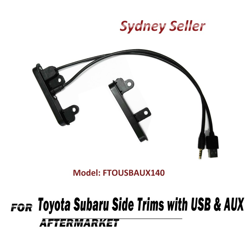2 DIN Side Trims Brackets Facia Dash With USB & AUX For Toyota HiAce Hilux Prado FTOUSBAUX140