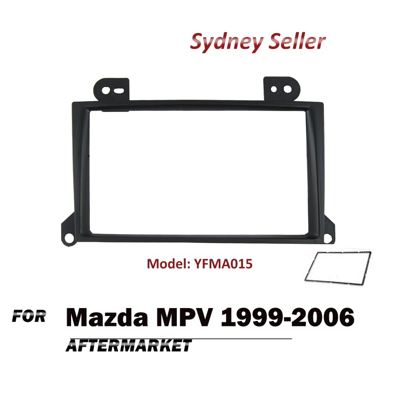 Double 2 DIN Facia Kit Fascia Dash Panel Plate For Mazda MPV 1999-2006 YFMA015