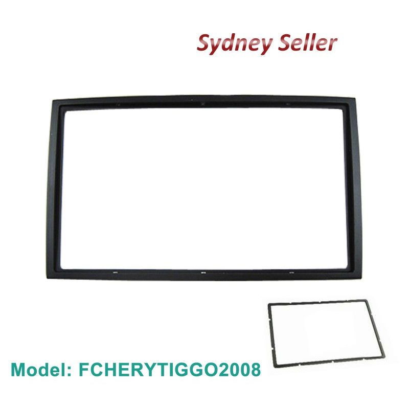 Double 2 DIN Facia Kit Panel Fascia Dash Plate For Chery Tiggo A3 2008 FCHERYTIGGO2008