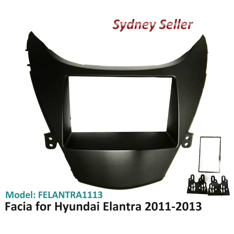 Double 2 DIN Facia Kit Fascia Panel Plate Dash For Hyundai Elantra 2011-2013 FELANTRA1113