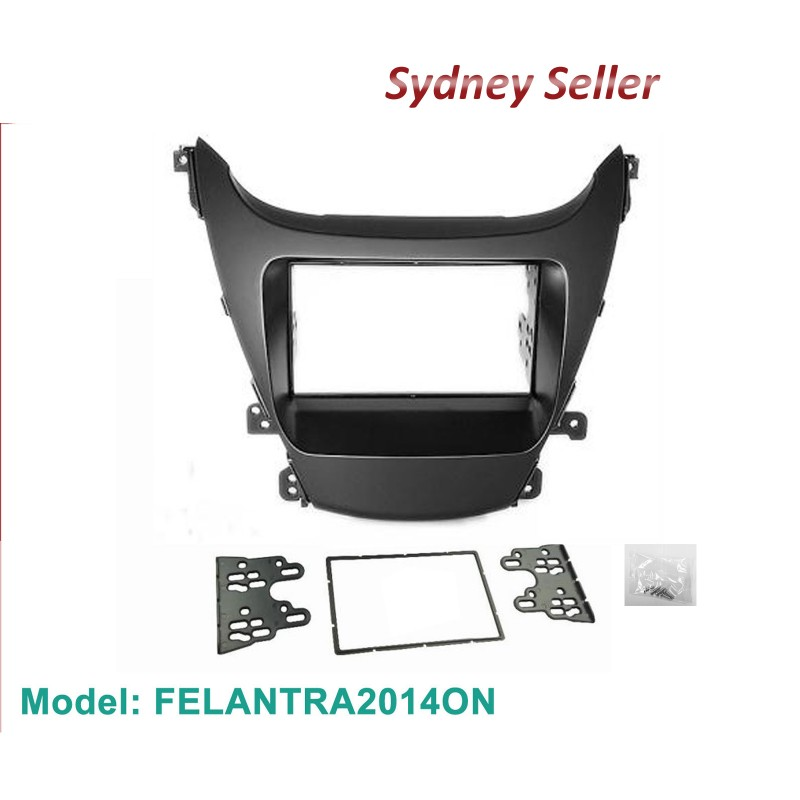 Double 2 DIN Facia Kit Panel Fascia Dash Plate For Hyundai Elantra MD3 2013-2015 FELANTRA2014ON