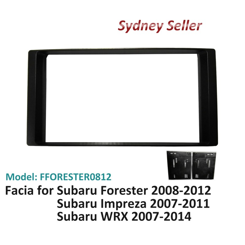 Double 2 DIN Facia Kit Fascia Panel Plate Dash For Subaru Forester 2008-2012 FFORESTER0812