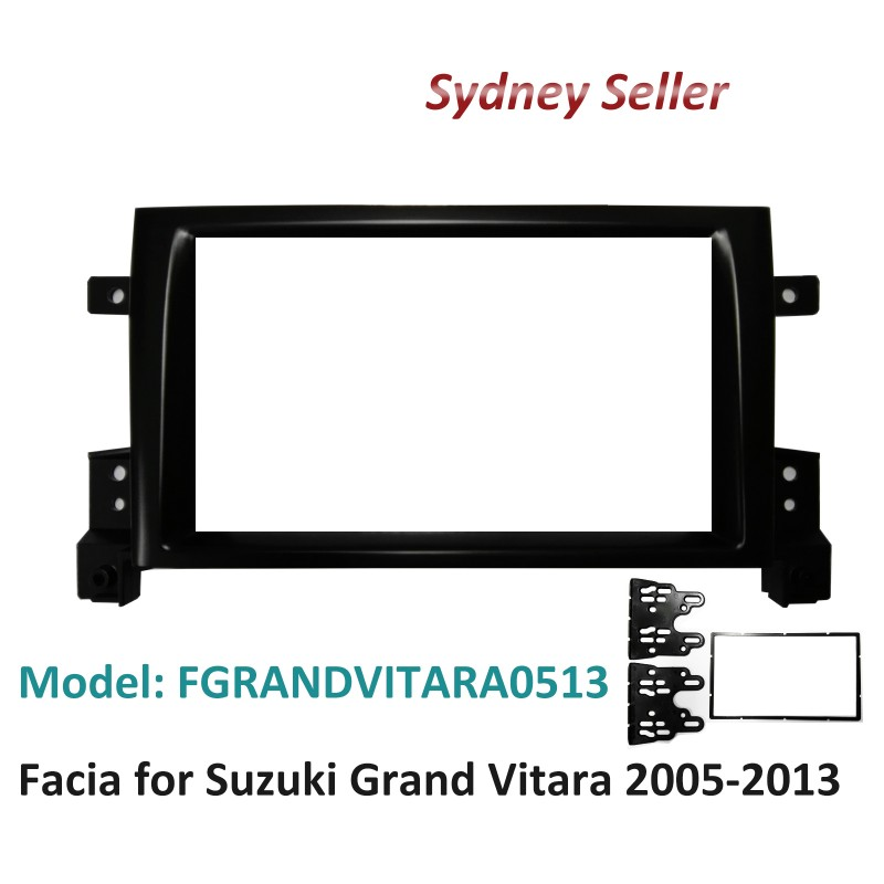 Double 2 DIN Facia Kit Fascia Panel Plate Dash For Suzuki Grand Vitara 2005-2013 FGRANDVITARA0513