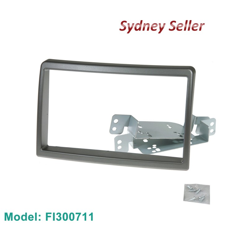 Double 2 DIN FACIA KIT Panel Fascia Dash Plate For HYUNDAI I30 2007-2011 Silver FI300711