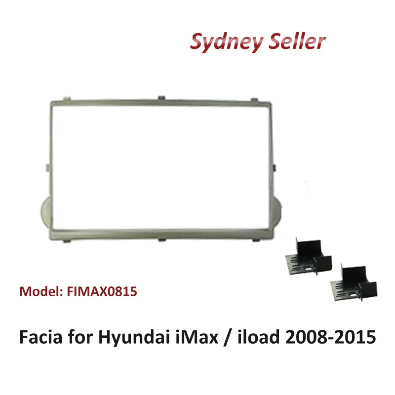 Double 2 Din Dash Panel Facia Fascia Plate For Hyundai iMax 2008-2015 Grey FIMAX0815