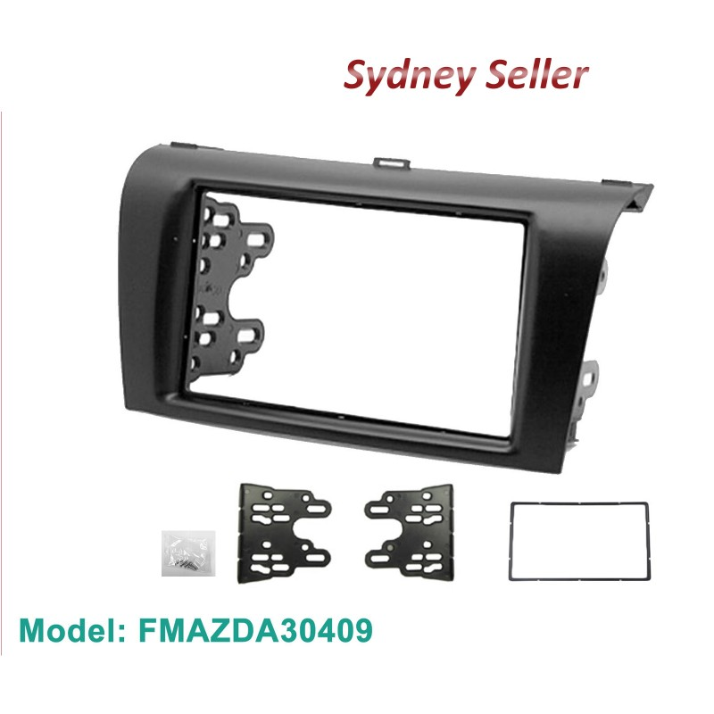 Double 2 Din Facia Kit Fascia Panel Plate Dash Surround For Mazda 3 2004-2009 FMAZDA0409