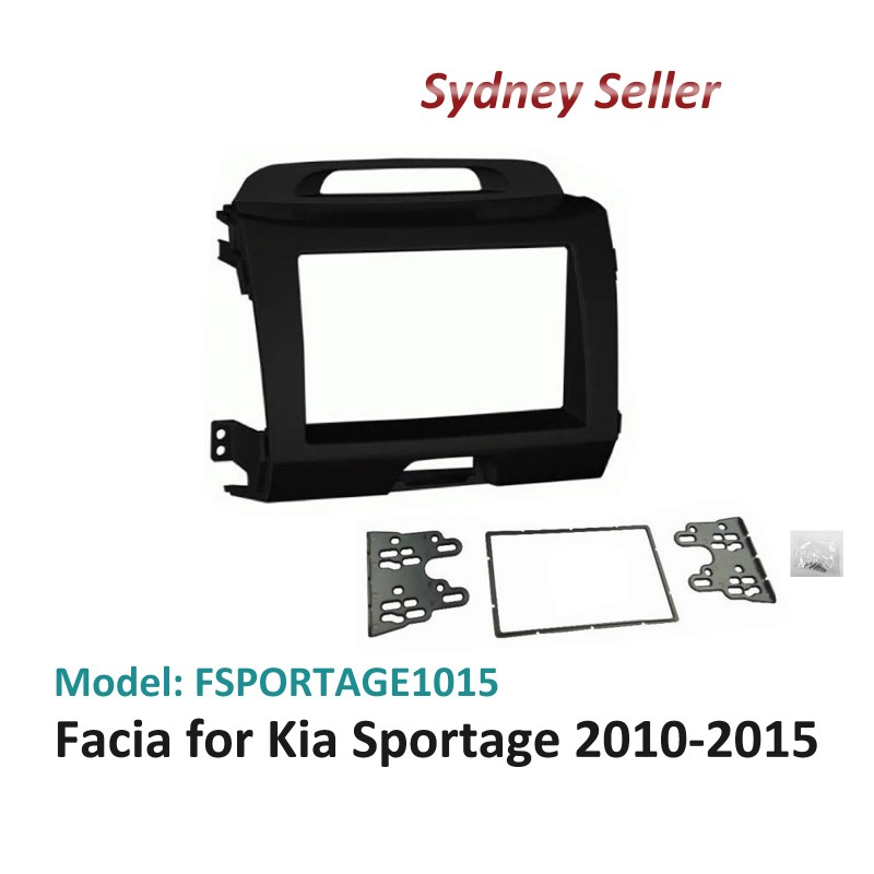 Double 2 DIN Facia Kit Panel Fascia Dash Plate For Kia Sportage SL 2010-2015 FSPORTAGE2010ON