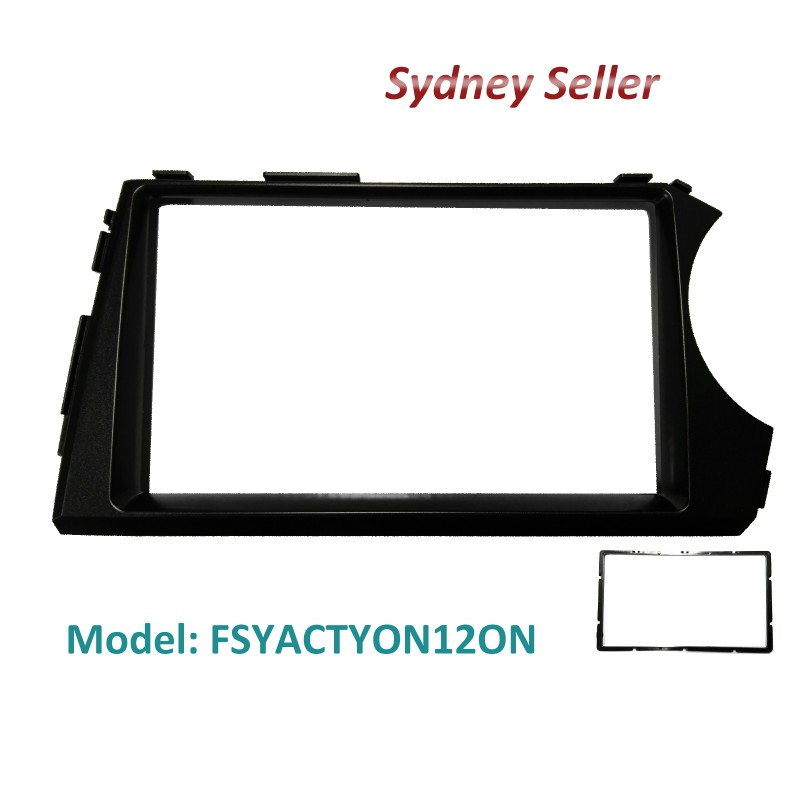 Double 2 DIN Fascia Dash Facia Kit Panel Plate For Ssangyong Actyon Sport 2012+ FSYACTYON12ON