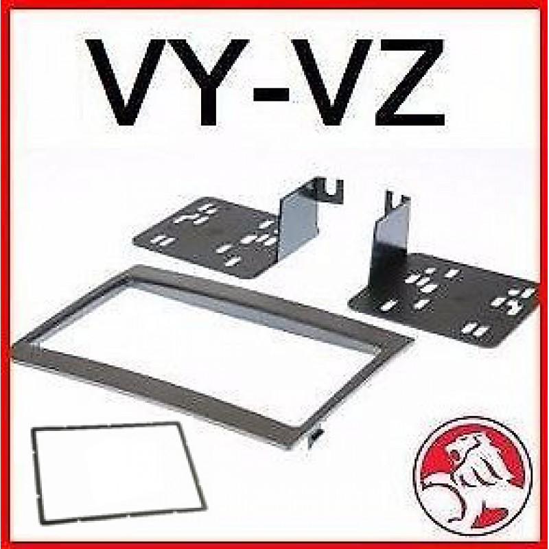 Double DIN Facia Kit Fascia Dash Panel Plate For Holden VY-VZ Commodore Monaro 2002+ GREY FVYVZ