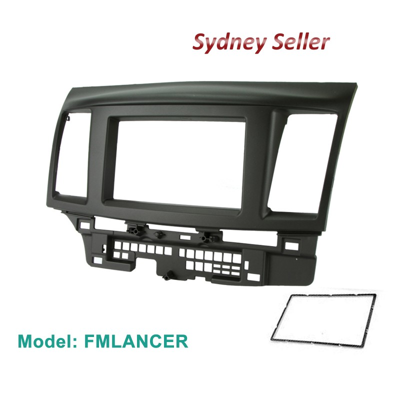 Double 2 DIN Facia Kit Panel Fascia Dash Plate For Mitsubishi Lancer CJ 2007-2013 FMLANCER