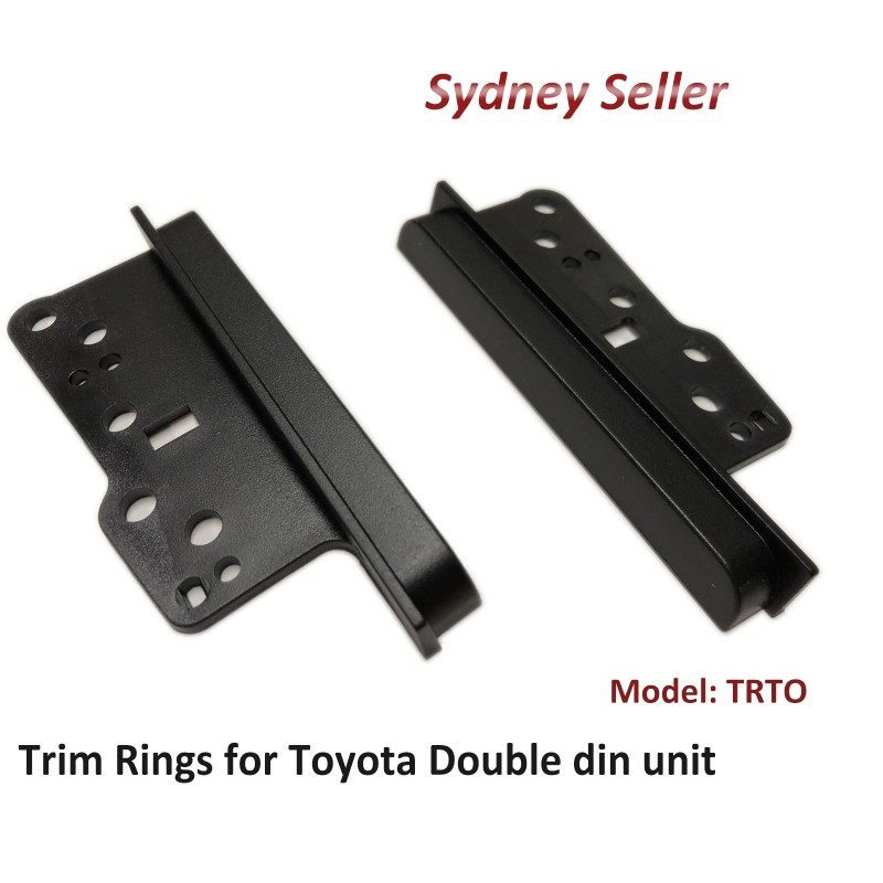 Double Din Trim Rings Side Bracket Facia Fascia for Toyota Prius C 2009+ TRTO