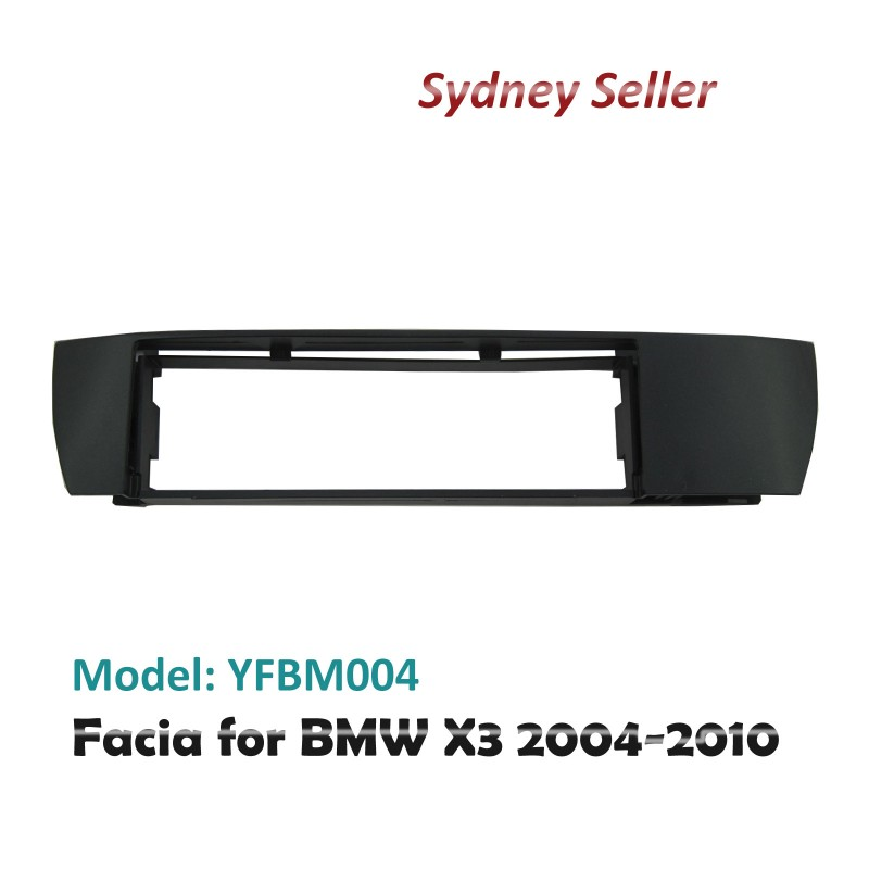 Single 1 One DIN Facia Kit Panel Fascia Dash Plate For BMW X3 2004-2010 E83 YFBM004