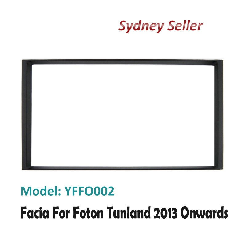 Double 2 DIN Facia Kit Panel Fascia Dash Plate For Foton Tunland 2013+ YFFO002
