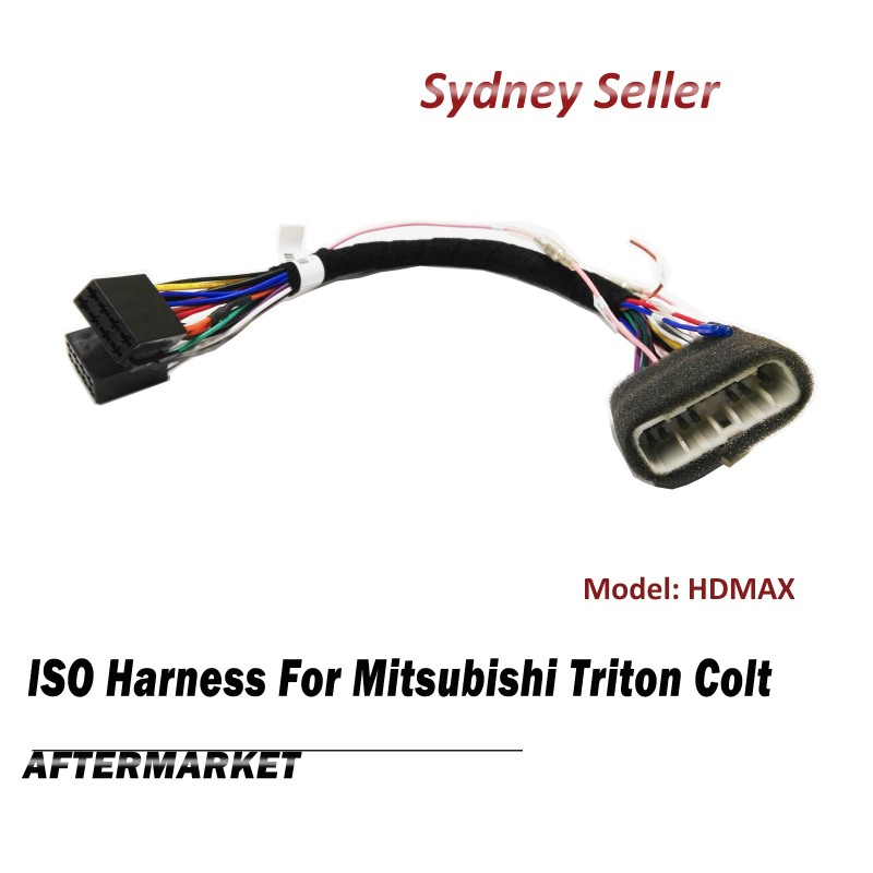 ISO Harness Plug Lead Wire Loom Adaptor Adapter For Mitsubishi Triton Colt HDMAX