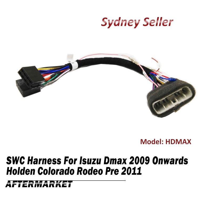 Steering Wheel Control SWC Harness ISO Plug Lead Wire For Holden Colorado Rodeo Pre 2011 HDMAX