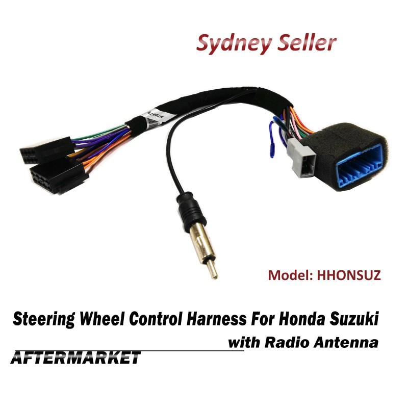 Steering Wheel Control SWC Harness ISO Plug Radio Antenna For Suzuki Grand Vitara Swift HHONSUZ