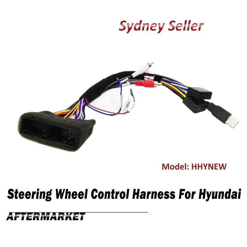Steering Wheel Control SWC Harness ISO Plug Lead Loom For Hyundai Tucson Veloster HHYNEW