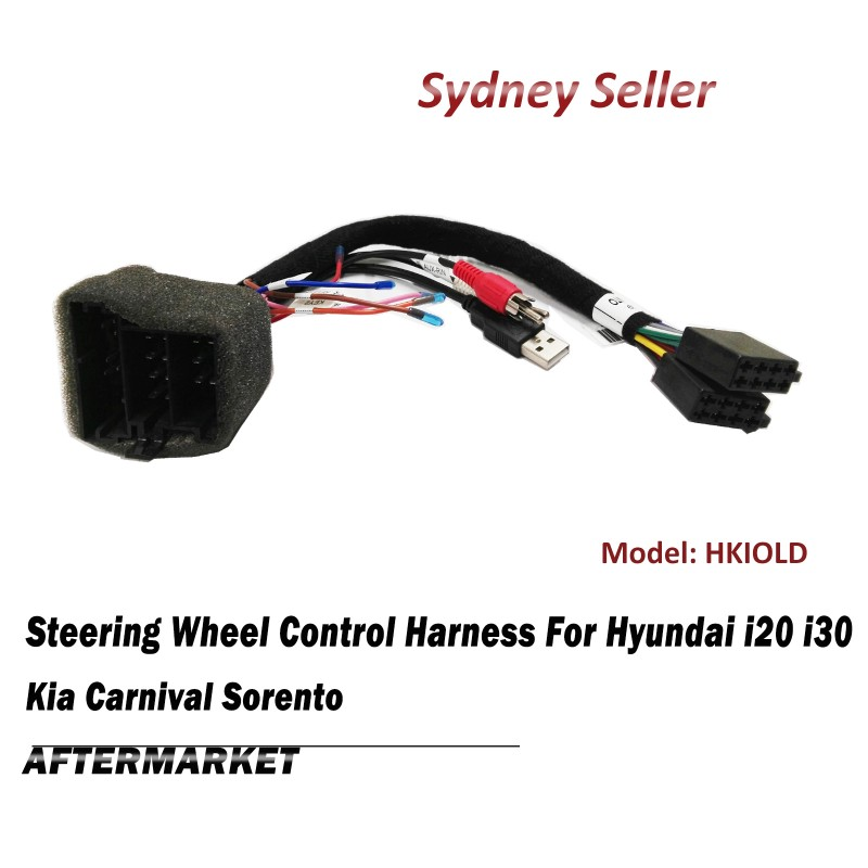 Steering Wheel Control SWC Harness ISO Plug Lead Wire Adaptor For Kia Sorento Soul HKIOLD