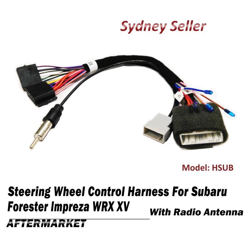 Steering Wheel Control SWC Harness ISO Plug Radio Antenna For Subaru Forester WRX XV HSUB
