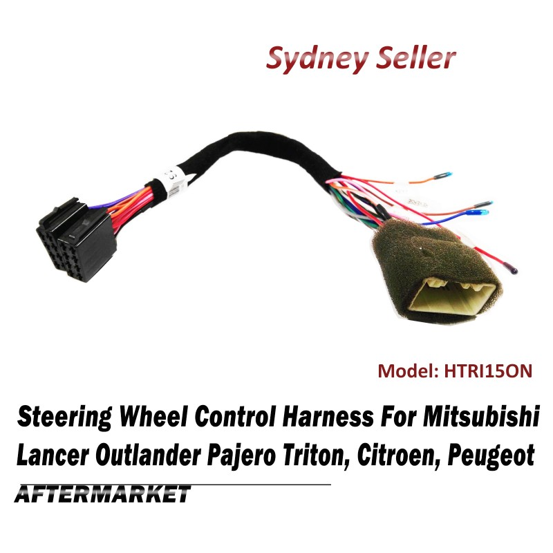 Steering Wheel Control SWC Harness ISO Plug Lead For Mitsubishi Lancer Mirage Pajero HTRI15ON