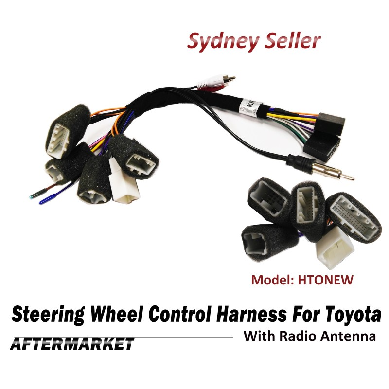 Steering Wheel Control SWC Harness Plug Adaptor Radio Antenna For Toyota Camry Hilux HTONEW