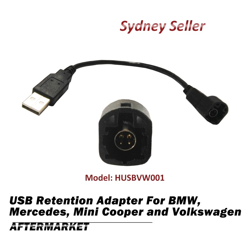 USB Retention Adapter Cable Harness For BMW 1 3 5 Series X1 E84 Mini Cooper R56 HUSBVW001
