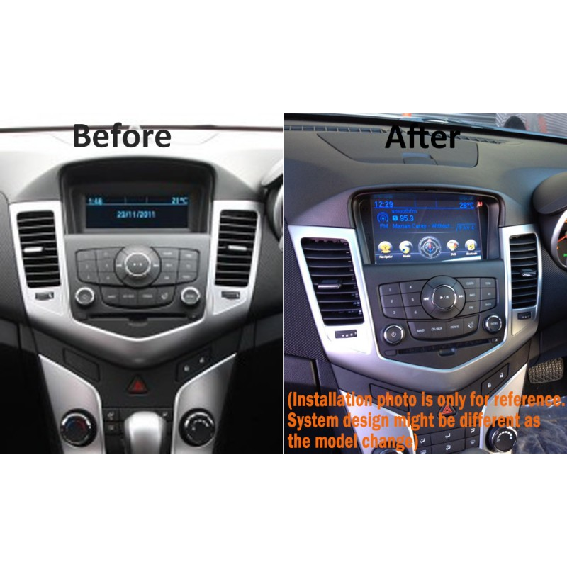 "7"" CARPLAYER ANDROID AUTO GPS DVD SAT NAV IPOD BT USB FOR HOLDEN CRUZE PRE 2014"