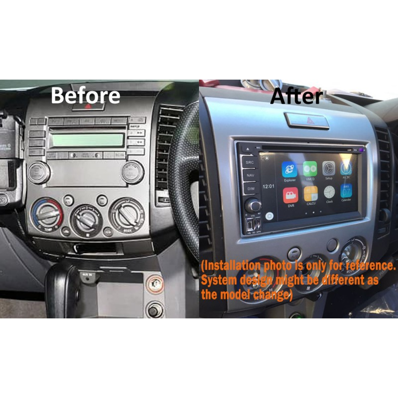 GPS DVD SAT NAV IPOD USB BLUETOOTH USB SD FOR FORD RANGER 2006-2011