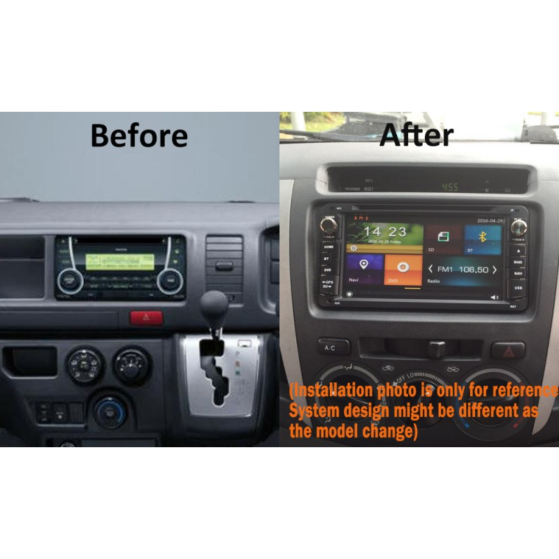 "7"" CARPLAYER ANDROID AUTO GPS DVD SAT NAV IPOD BT FOR TOYOTA CAMRY HIACE TARAGO"