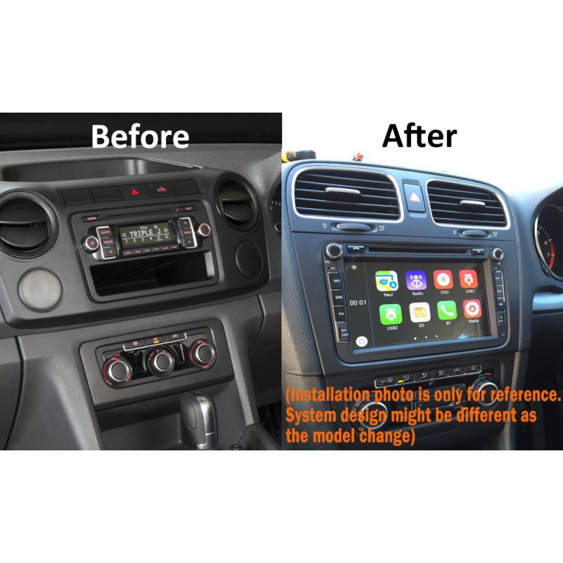 8' CARPLAYER ANDROID AUTO GPS DVD SAT NAV IPOD BT FOR VW VOLKSWAGEN Amarok Golf Passat