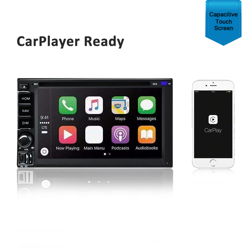 CARPLAYER ANDROID AUTO GPS DVD SAT NAV IPOD BLUETOOTH SD FOR MAZDA 2 2007-2014