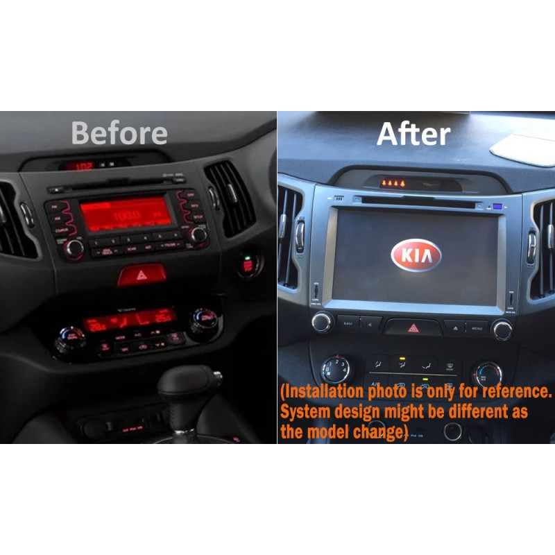 GPS DVD SAT NAV IPOD BLUETOOTH STEREO USB SD FOR KIA SPORTAGE 2010+
