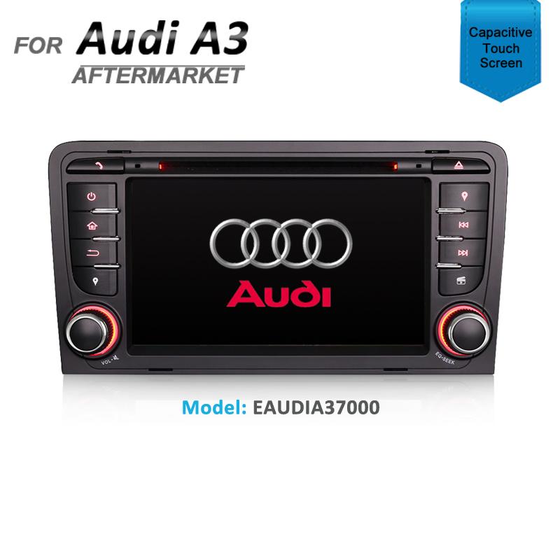 "7"" GPS NAVIGATION MULTIMEDIA SAT NAV WITH DVD IPOD BLUETOOTH RADIO FOR AUDI A3"