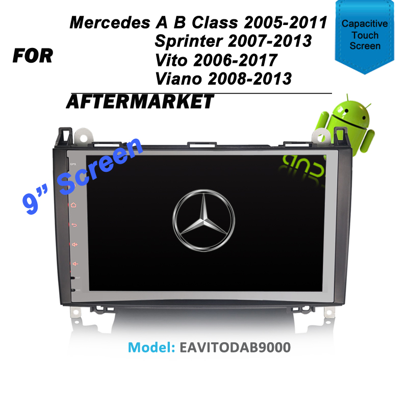 "9"" ANDROID GPS SAT NAV DVD IPOD BLUETOOTH NAVIGATION FOR MERCEDES VITO SPRINTER A-CLASS W169 B-CLASS W245 VIANO"