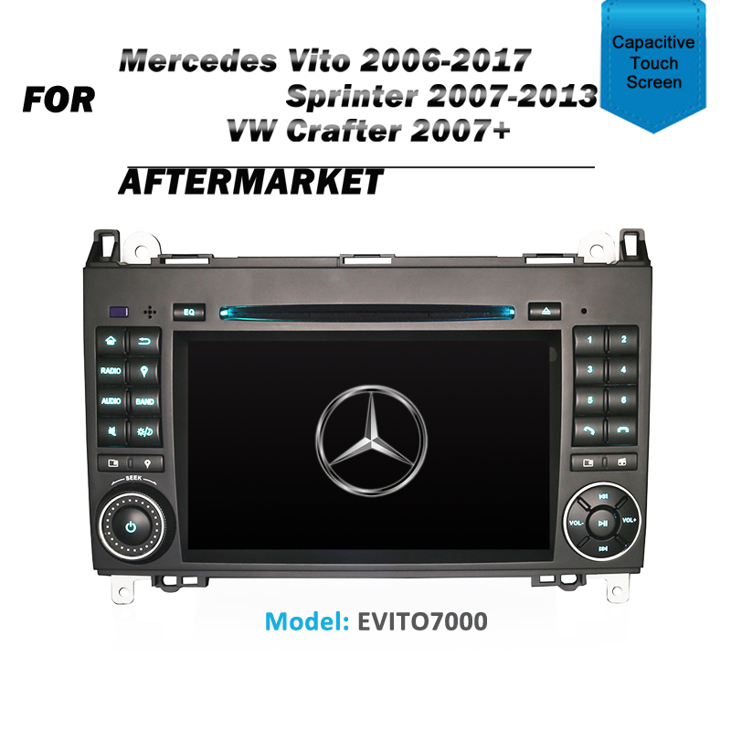 "7"" GPS SAT NAV DVD IPOD BLUETOOTH NAVIGATION RADIO FOR MERCEDES VITO SPRINTER A-Class W169 B-Class W245 VIANO W639"