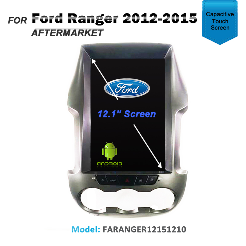 "12.1"" CARPLAYER ANDROID AUTO GPS DVD SAT NAV IPOD BT FOR FORD RANGER 2012-2015"
