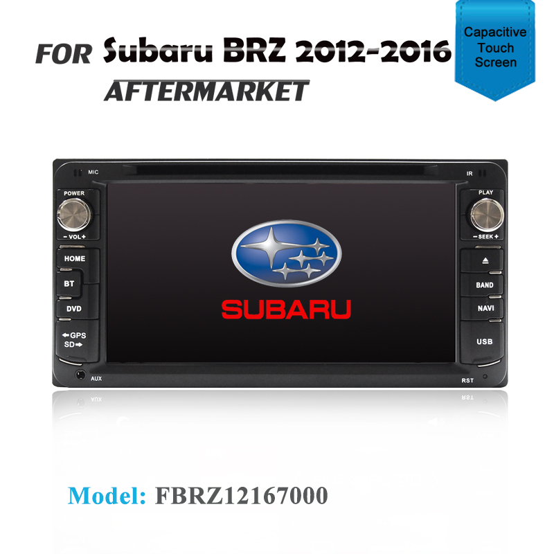 "7"" GPS DVD SAT NAV IPOD BLUETOOTH USB SD NAVIGATION FOR SUBARU BRZ 2012-2016"