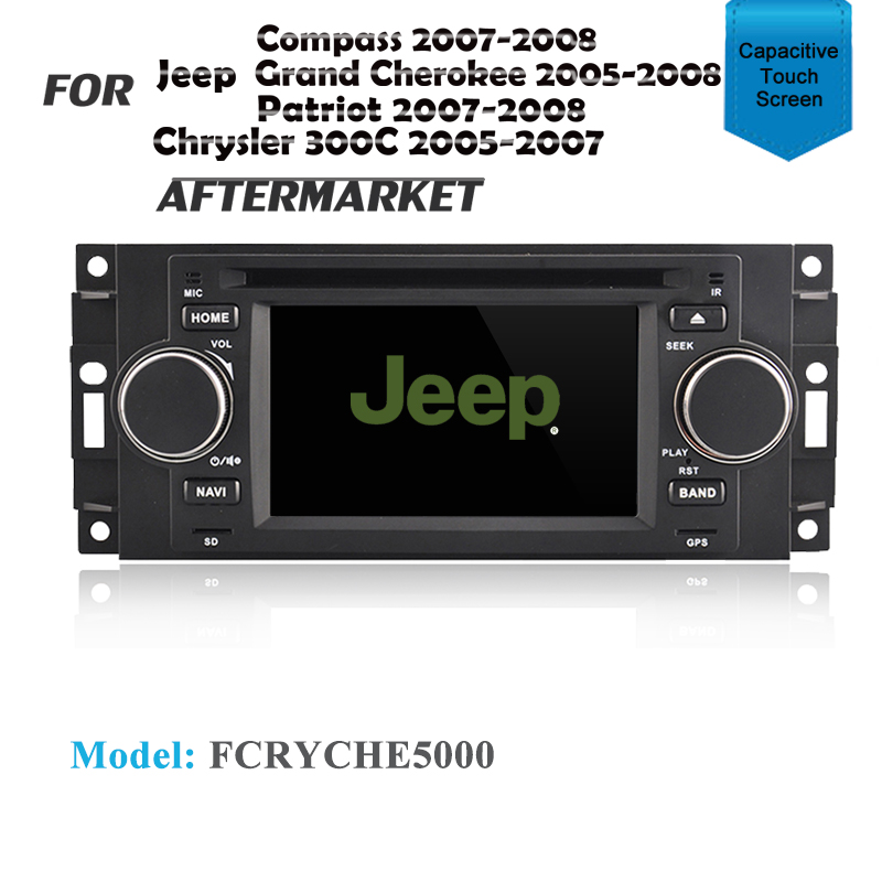 GPS DVD IPOD SAT NAV BLUETOOTH NAVIGATION USB FOR JEEP GRAND CHEROKEE 2005-2008
