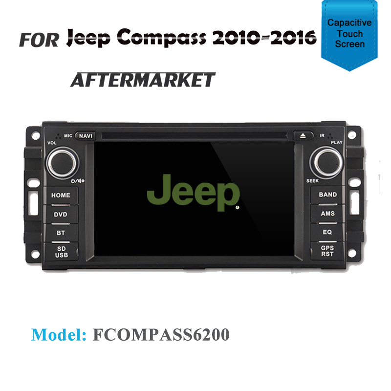 GPS DVD SAT NAV IPOD BLUETOOTH STEREO FOR JEEP COMPASS MK 2010-2016
