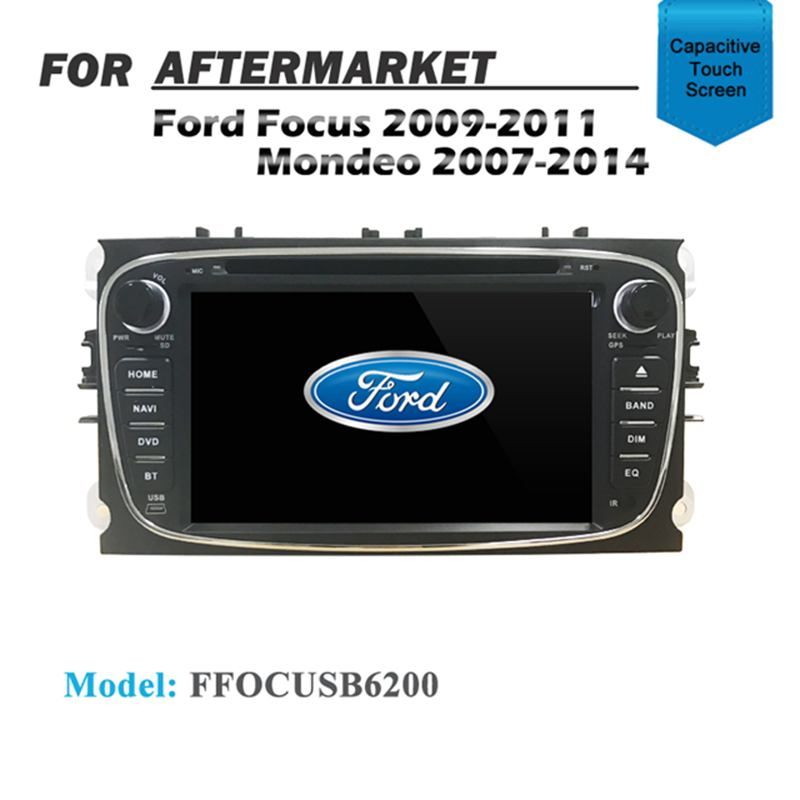 GPS DVD SAT NAV IPOD BT FOR FORD FOCUS 2009-2011 MONDEO 2007-2014 BLACK