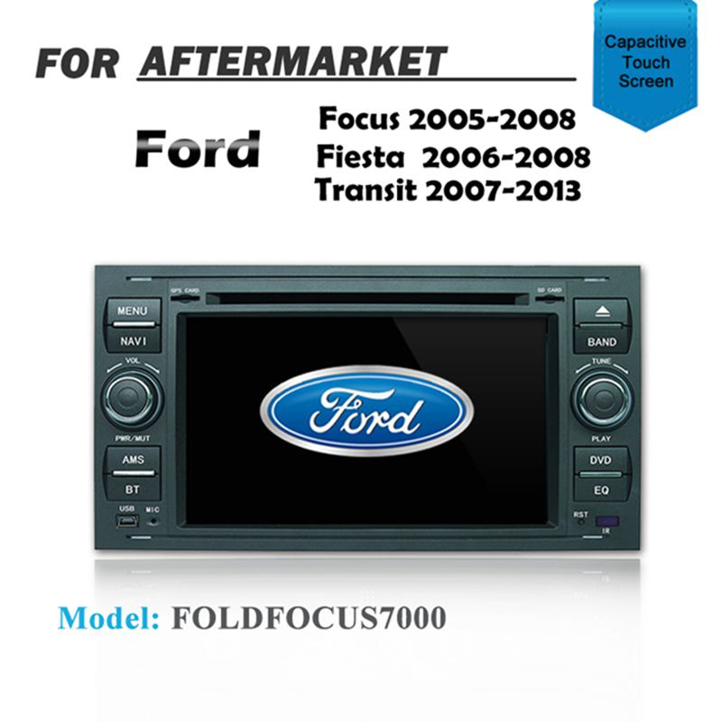 "7"" GPS DVD SAT NAV IPOD BT FOR FORD FIESTA 2006-2008 FOCUS 2005-2008 TRANSIT 2007-2013"