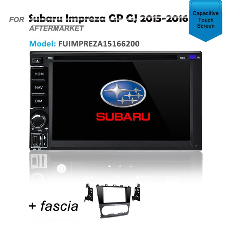 GPS SAT NAV DVD IPOD BLUETOOTH USB STEREO FOR SUBARU IMPREZA 2015-2016