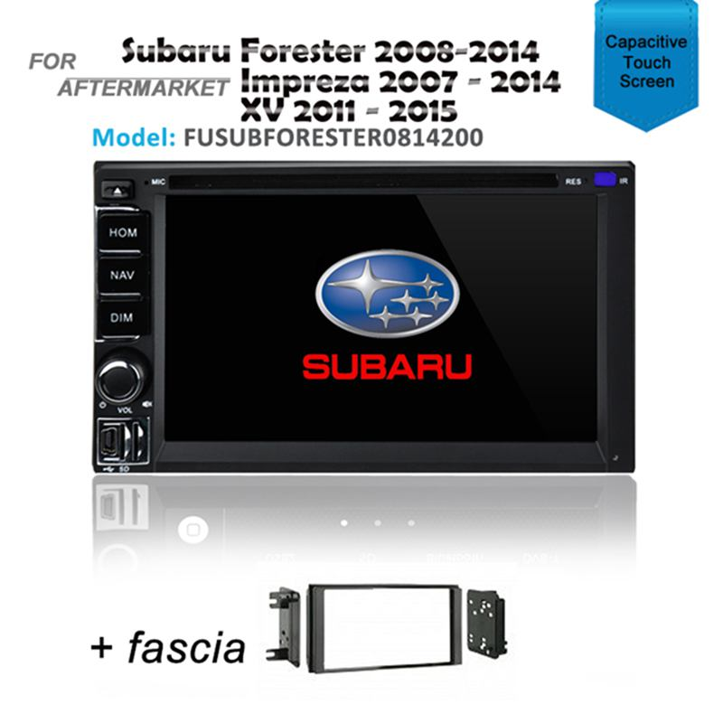 CARPLAYER /ANDROID AUTO GPS DVD SAT NAV IPOD BT FOR SUBARU FORESTER 2008-2014