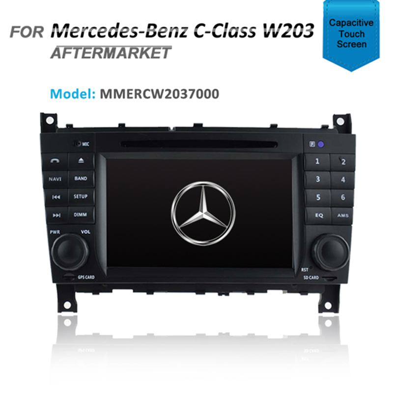 7' GPS NAVIGATION DVD IPOD BLUETOOTH RADIO FOR MERCEDES C/CLK CLASS W203 W209